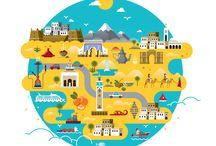 Vector City Map Illustrations / City Maps