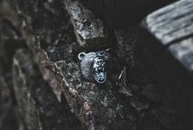 Bear Silver Ring Angry and Brutal