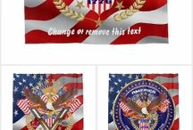 """Patriotic Election Combo Collection from Zazzle / 113 Products to choose from. The Cost of a single Design $100.00 to $500.00, Your cost """"FREE on Zazzle""""why? because you don't have to pay for my services! Created in Corel Draw X7 One of a kind design from Digital Art Expressions Theme party? Fundraising? Need Ideas? One-of-a-kind designs. Images Can not be sold, reproduced or distributed without written permission of W. Campitelle Copyright 2005-2016 Info E-Mail to splasvegas@cox.net subject Comment or Suggestion. Thank you For Viewing. Bill"""