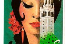 Spain vintage posters