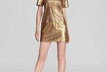 Golden dress / Winter dress nigth dress