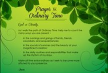 Ordinary Time Resources & Crafts for Classrooms & Families / Catholic ways to celebrate Ordinary Time at home or in the religious education session / school classroom.