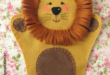 šití maňásci - hand puppets