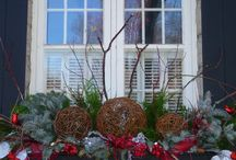 Winter decorations outdoors