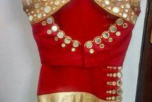 mirror work saree not blouse