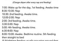 Food & sleep Routine ideas & for my kiddo