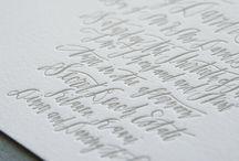 design typography letterpress calligraphy / by Carolyn Egerszegi