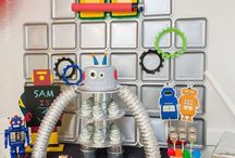 birthday // robot theme / Upgrade in Progress! Check out these Robot kids birthday party ideas.