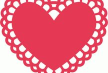 witraż serce