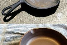CAST IRON PAN RE-SEASONING / by Bernard Dahilig