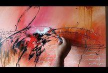 Malen acryl