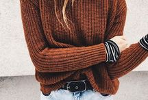 women stitch sweater styling