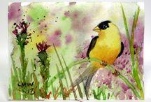 Uccello ad acquerello