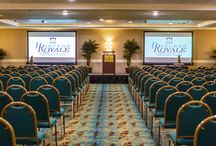 Meeting Space - Princess Royale Group Sales / With a total of over 30,000 sq.ft. of convention space, including 17 meeting rooms, the Princess Royale has ample room to accommodate groups up to 750. Our 4 story atrium offers a unique area that overlooks the beautiful Atlantic Ocean. The Palmetto and Caribe Ballrooms have flexible space for meetings and conventions to the most elaborate awards banquet. Our 8,000 sq.ft. Caribbean Exhibit Hall offers versatility for virtually any event, including trade shows and exhibits!