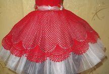 vestido elfantil de croche
