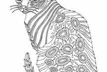 gatos pa pintar