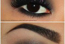 Glittery Makeup / Glitter is a girls best friend.
