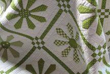 quilt blanc et vert