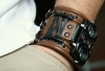 Big Leather Watch Bracelets & Bracelets