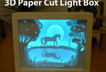 3d papír lámpa