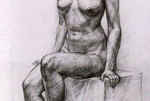 studiu desen portret