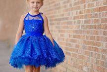 blue girl dress
