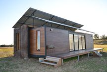 Tiny Homes and Houseboats / Highlighting innovative forms of mobile new homes including tiny homes and houseboats. Focus on interior and exterior design ideas and useful organization tips