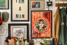 Eclectic Gallery Walls / Gallery walls perfect for a thrifty home