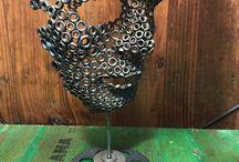 Metal heykel