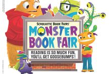 """Monster Book Fair - Fall 2015 / Our school's Scholastic Book Fair, Fall 2015.  The theme is """"Reading is So Much Fun, you'll get Goosebumps!""""."""