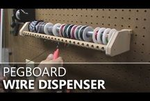 How to set up tool pegboard