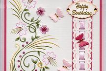 My Cards with Karin's Creations. / Embroidery on Card