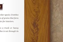 """Natural Crotch Veneers / Crotches are very rare in any timber specie. Crotches are veneers with """"flame"""" pattern of grains that form an extremely decorative character for interiors."""