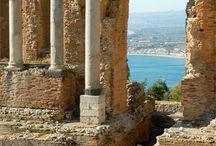 Taormina Theatre, Sicily.  Beautiful