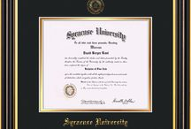 Syracuse University Diploma Frames & Graduation Gifts! / Official SU Diploma frames. Exquisitely crafted to exacting specifications for the SU diploma. Custom framed using hardwood mouldings and all archival materials, including UV glass to prevent fading from sunlight AND indoor incandescent lighting! Each frame exceeds Library of Congress standards for document preservation and includes a 100% lifetime guarantee, ensuring that a hard-earned achievement will be honored and protected for generations. Makes a thoughtful and unique graduation gift!