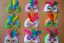Carnaval met Sien en Co ❣ / De leukste knutselideeën voor carnval staan hier voor je verzamelt.  Meer leuke knutselideeën vind je op www.knutselenmetkinderen.nl.