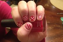 Jade's Nails Created By Mom (ME) / Jade LOVED painted nails! My attempt at being a nail tech! / by Barbara Charles