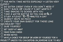 School/studying tips