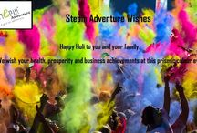 #Stepinadventure Wishing You a Happy Holi..