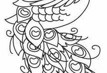 Схемы, рисунки для вышивки и росписи
