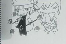 Naruto y Sasuke cabezones