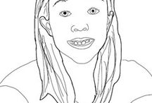 Contour Line Self Portraits
