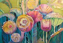 Malovani na hedvábí
