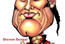 caricatures steven seagal karikatyyri