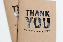 Graphic Design - Thank you cards