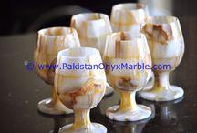 COLORED  ONYX WINE GLASSES
