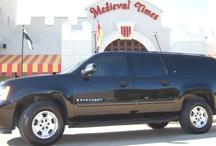 SUVs-Dallas Limos / Dallas Limo Service: SUVs Accomodates up to 6 people. Suburban: (6 Passenger, Leather interior, CD Player, Hourly Rate: $114.19/hr All Inclusive. Executive Excursion: (4 Passenger, Leather interior, TV, DVD/CD Player, Satellite, Hourly Rate: $112.38/hr All Inclusive). 214-351-7000 - 800-789-4847 - www.premierofdallas.com