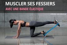 exercice fessier elastique