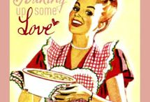 Vintage baking ads / Retro baking love. www.bisousweet.com