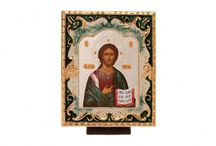 ICONS / According to the Russian Orthodox tradition, all of the products offered (icons, pectoral crosses, candles, church plate elements) are sanctified in the Temple by sprinkling with Holy water.